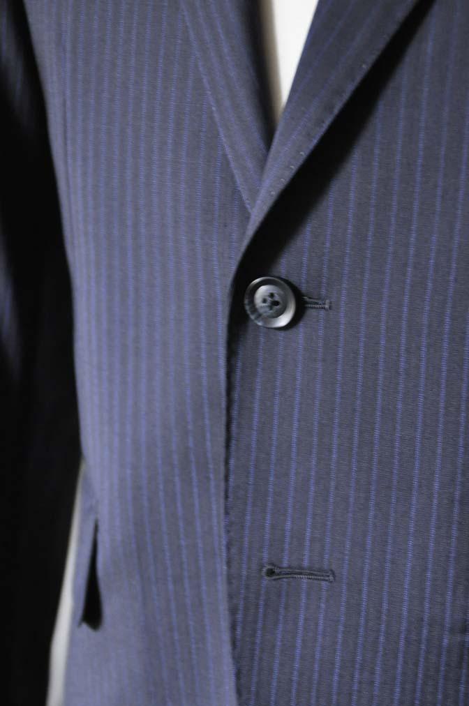 DSC0824-2 お客様のスーツの紹介- Biellesi ネイビーストライプスーツ- 名古屋の完全予約制オーダースーツ専門店DEFFERT