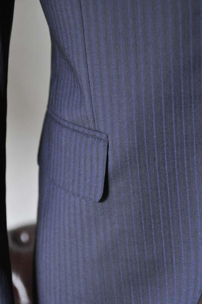 DSC0825-2 お客様のスーツの紹介- Biellesi ネイビーストライプスーツ- 名古屋の完全予約制オーダースーツ専門店DEFFERT