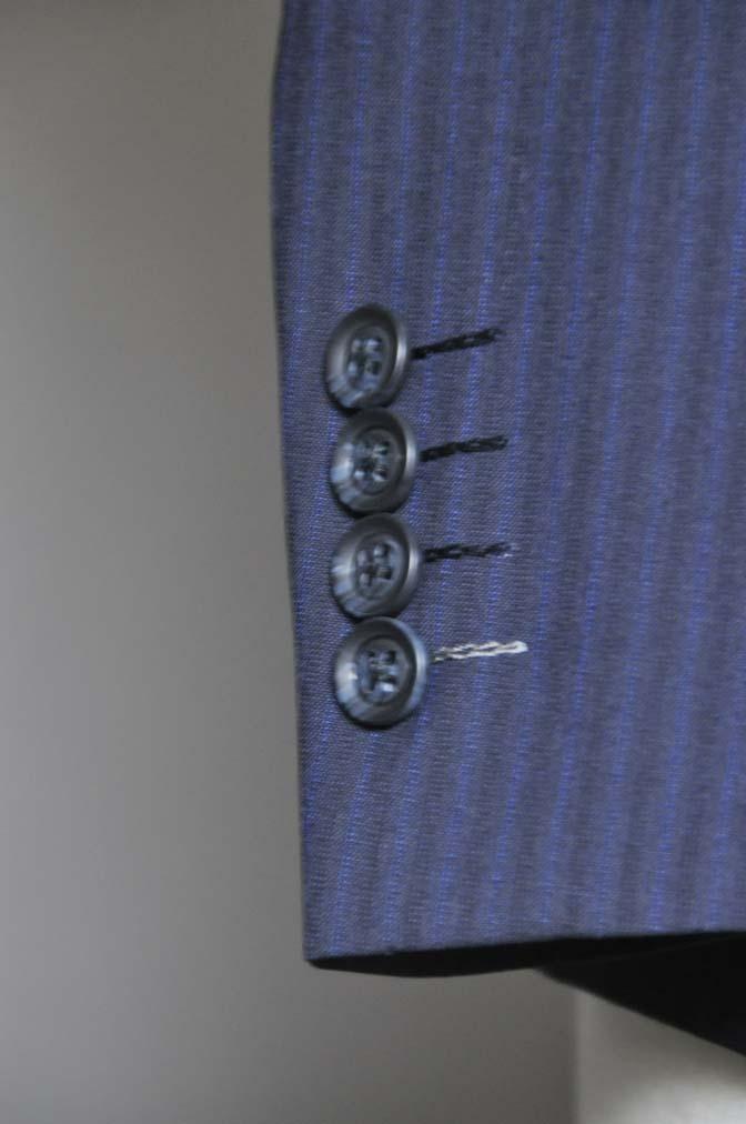 DSC0826-2 お客様のスーツの紹介- Biellesi ネイビーストライプスーツ- 名古屋の完全予約制オーダースーツ専門店DEFFERT