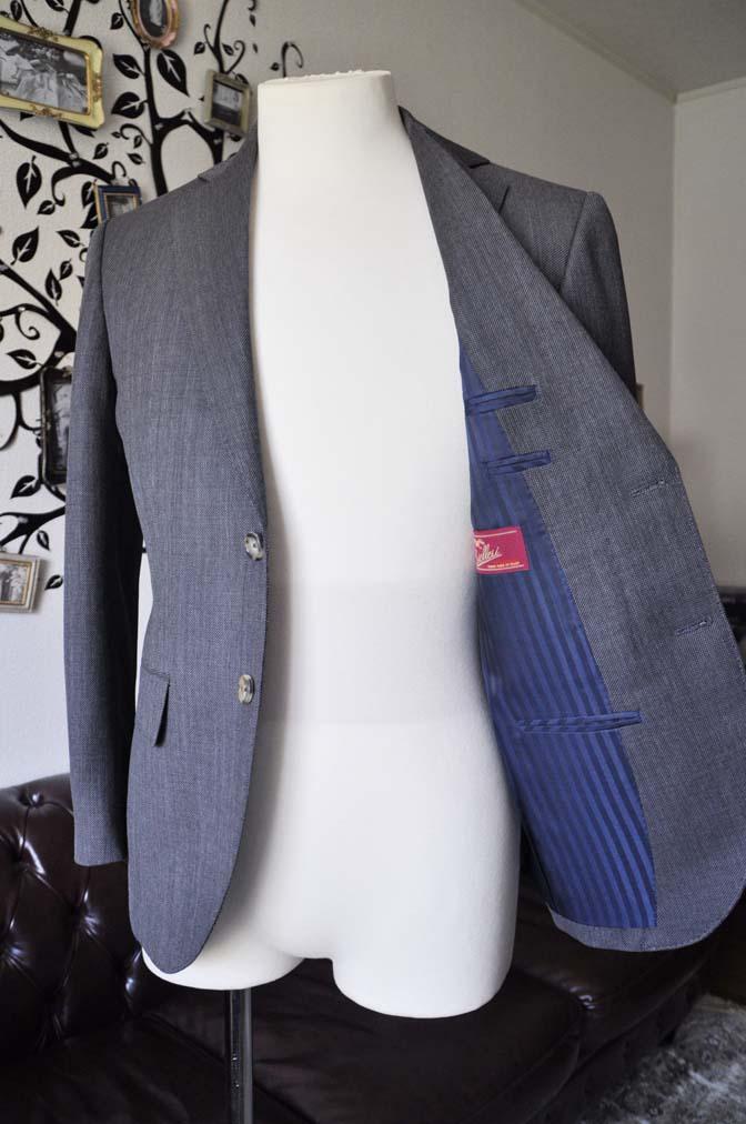 DSC0826-3 お客様のスーツの紹介-Biellesiグレーバーズアイ スーツ-