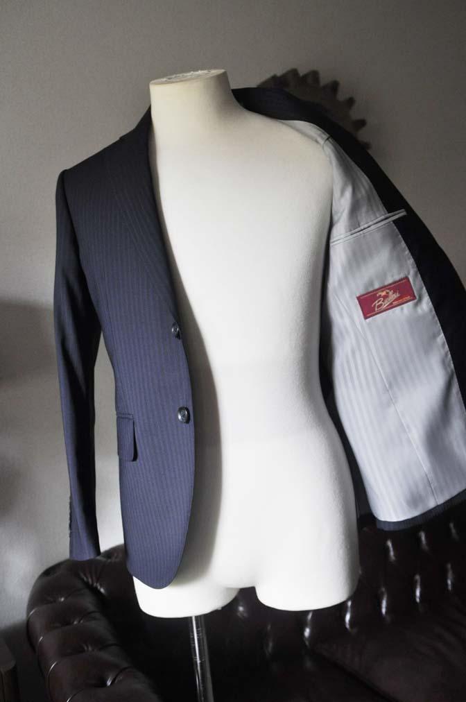 DSC0827-2 お客様のスーツの紹介- Biellesi ネイビーストライプスーツ- 名古屋の完全予約制オーダースーツ専門店DEFFERT