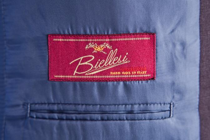 DSC08308 オーダースーツの紹介-Biellesi ワインブラウンスーツ-