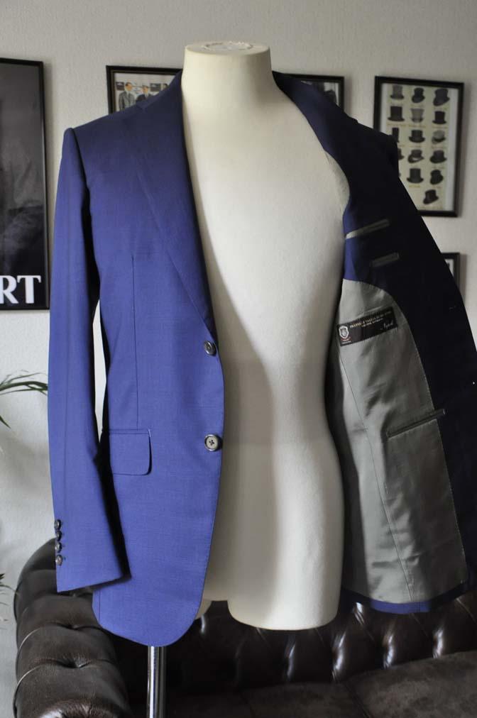 DSC0833 お客様のスーツの紹介-TALLIA DI DELFINO ネイビー千鳥格子-
