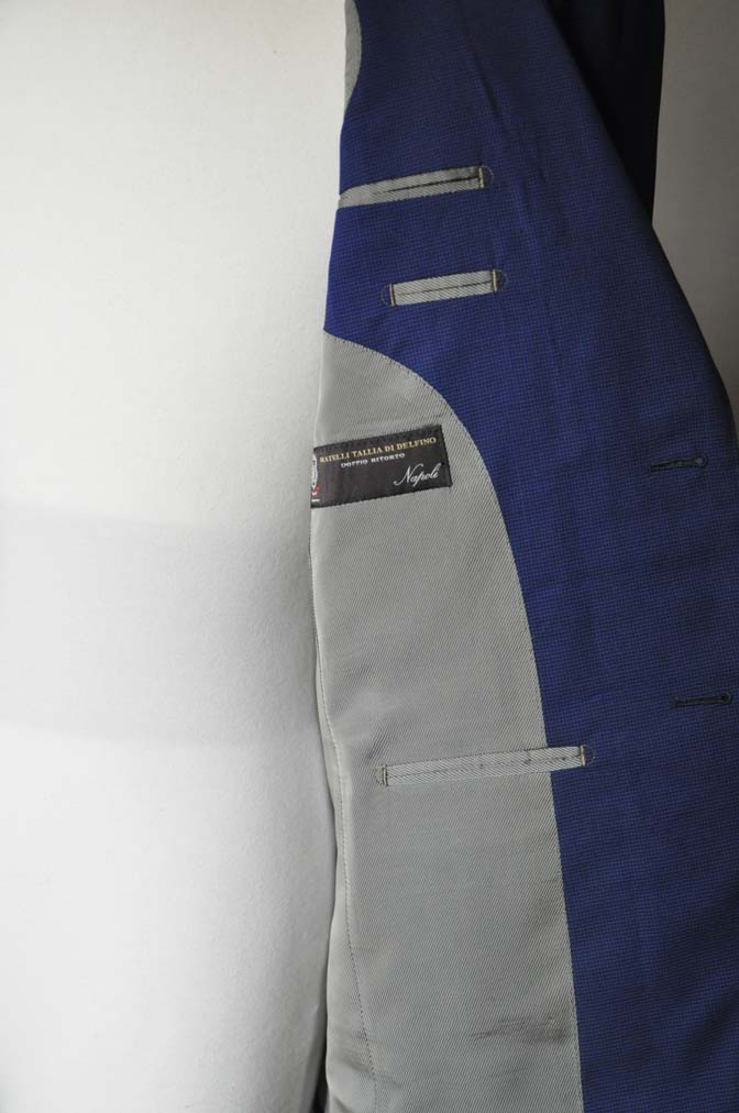 DSC0834 お客様のスーツの紹介-TALLIA DI DELFINO ネイビー千鳥格子-