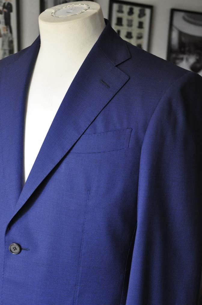 DSC08351 お客様のスーツの紹介-TALLIA DI DELFINO ネイビー千鳥格子-