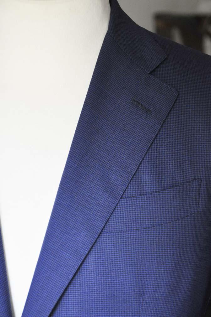 DSC08361 お客様のスーツの紹介-TALLIA DI DELFINO ネイビー千鳥格子-