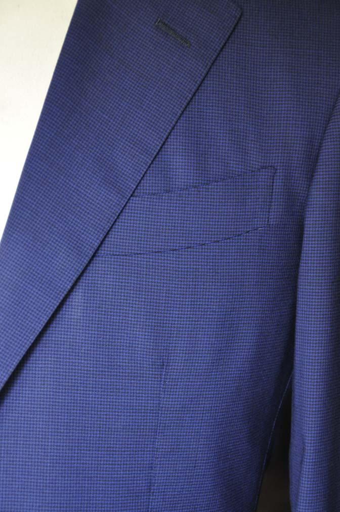 DSC08371 お客様のスーツの紹介-TALLIA DI DELFINO ネイビー千鳥格子-