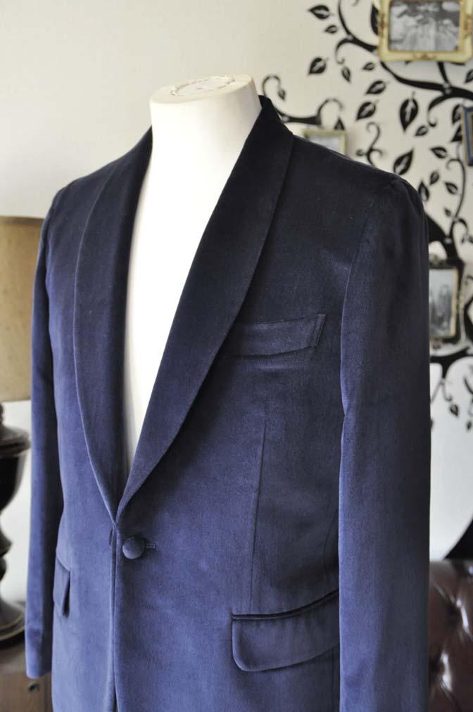 DSC0839-4 お客様のジャケットの紹介-DUGDALE ネイビーベルベットショールカラージャケット-