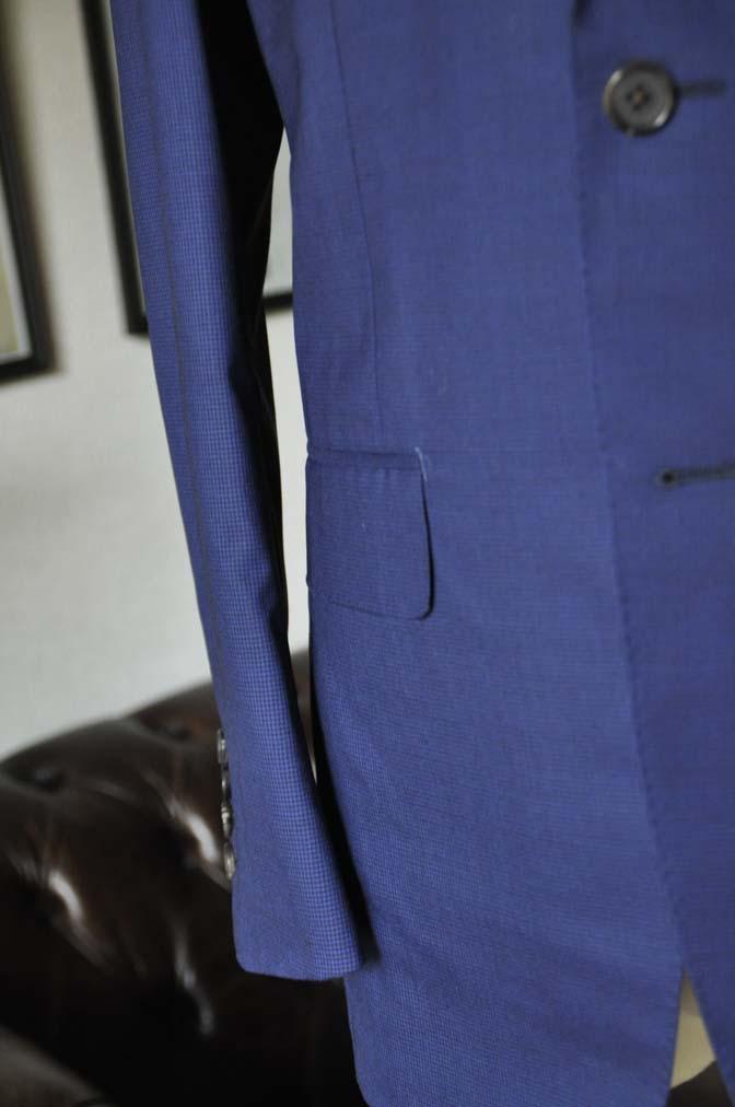 DSC08391 お客様のスーツの紹介-TALLIA DI DELFINO ネイビー千鳥格子-