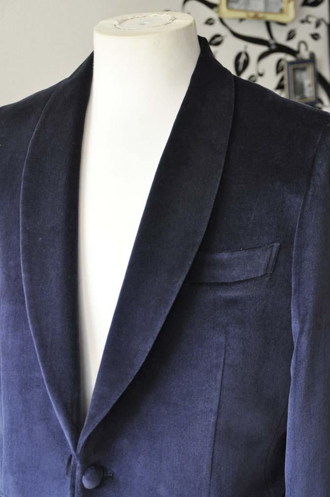 DSC0840-3 お客様のジャケットの紹介-DUGDALE ネイビーベルベットショールカラージャケット-