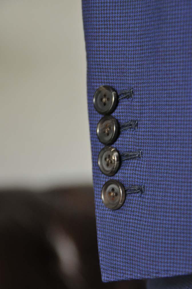 DSC08401 お客様のスーツの紹介-TALLIA DI DELFINO ネイビー千鳥格子-