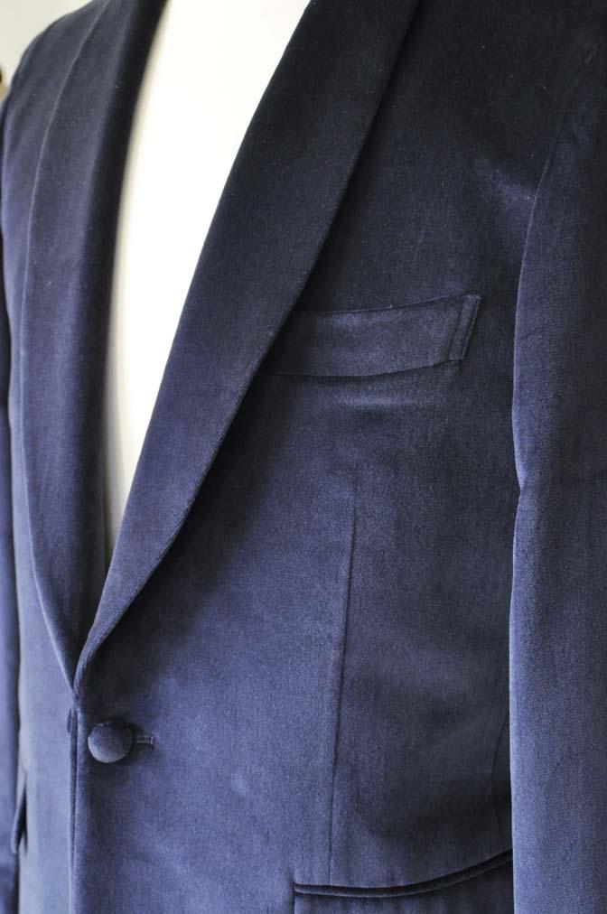 DSC0841-5 お客様のジャケットの紹介-DUGDALE ネイビーベルベットショールカラージャケット-