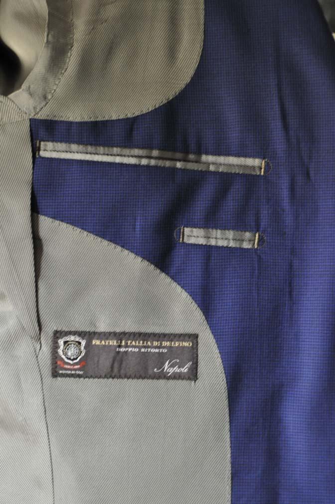 DSC08411 お客様のスーツの紹介-TALLIA DI DELFINO ネイビー千鳥格子-