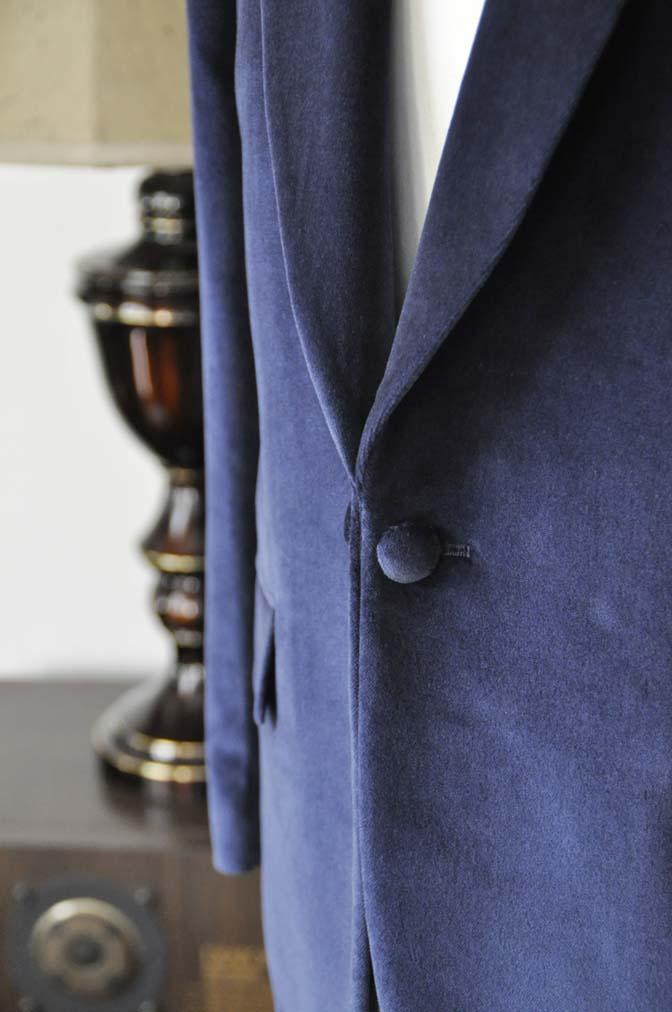 DSC0842-4 お客様のジャケットの紹介-DUGDALE ネイビーベルベットショールカラージャケット-