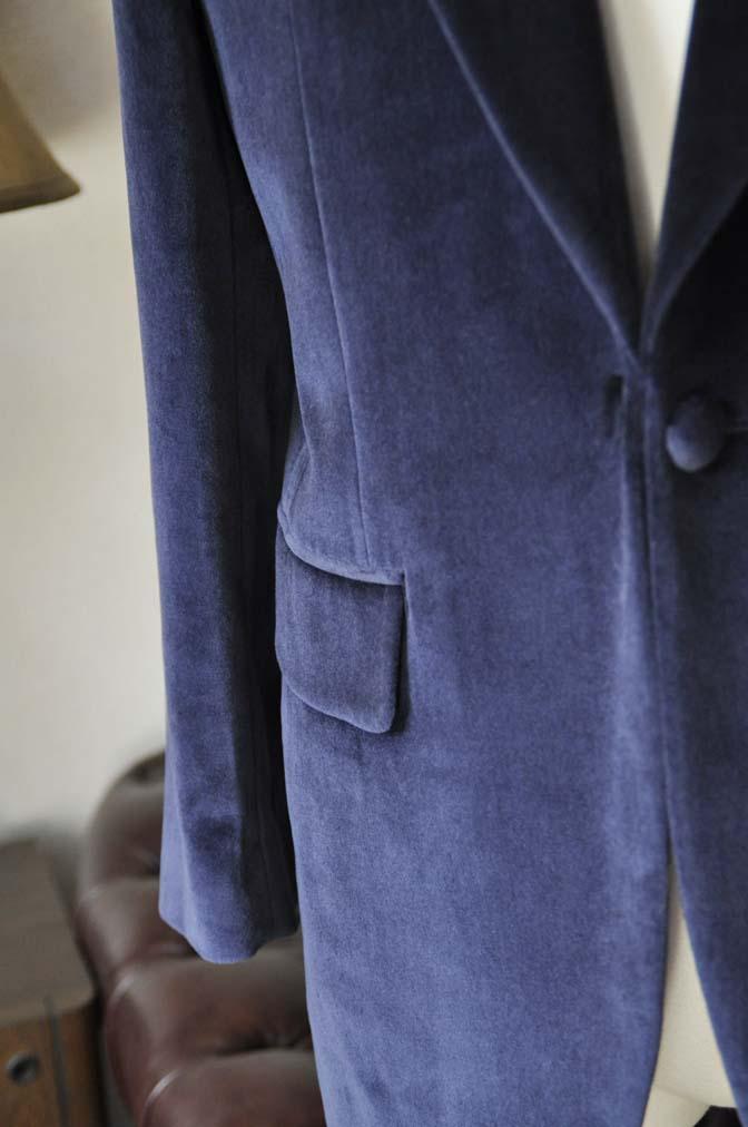 DSC0844-5 お客様のジャケットの紹介-DUGDALE ネイビーベルベットショールカラージャケット-