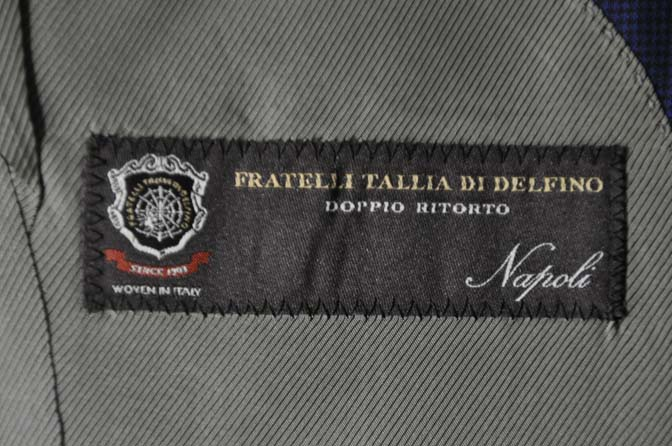 DSC08451 お客様のスーツの紹介-TALLIA DI DELFINO ネイビー千鳥格子-