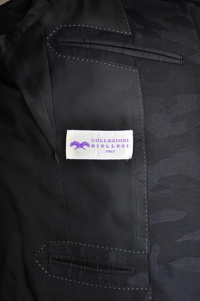 DSC0848 オーダースーツ -ブラック迷彩スリーピーススーツ-