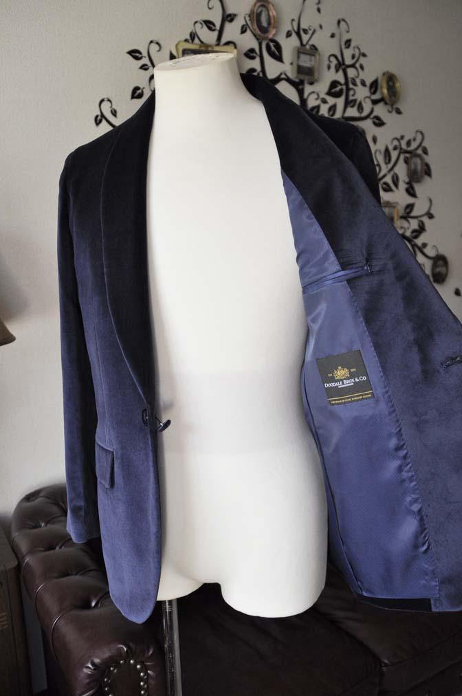 DSC0849-2 お客様のジャケットの紹介-DUGDALE ネイビーベルベットショールカラージャケット-