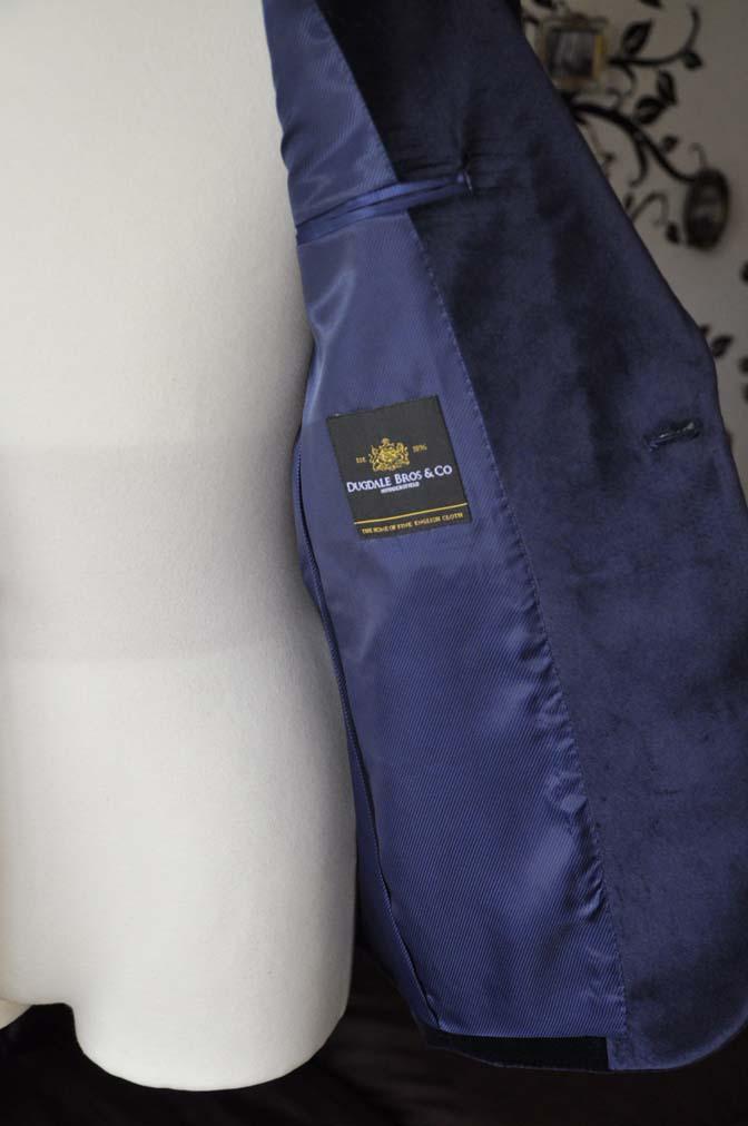 DSC0850-2 お客様のジャケットの紹介-DUGDALE ネイビーベルベットショールカラージャケット-