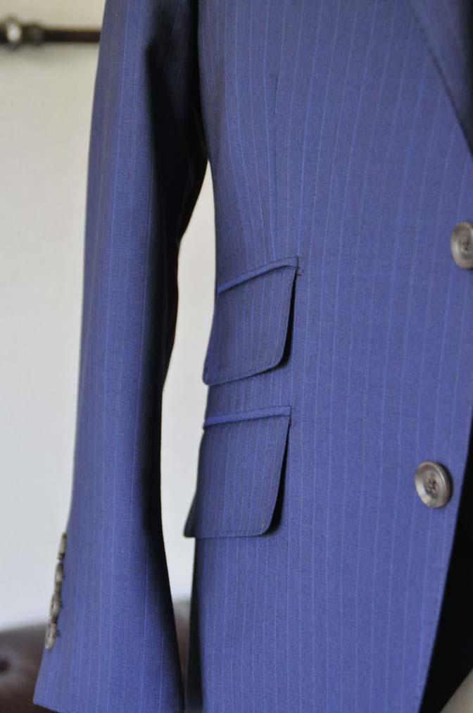 DSC0860-1 お客様のスーツの紹介- Biellesi ネイビーストライプ スリーピース- 名古屋の完全予約制オーダースーツ専門店DEFFERT