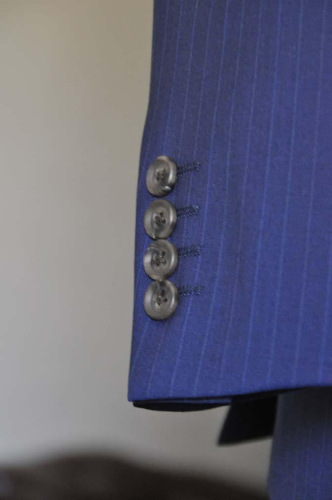 DSC0861-1 お客様のスーツの紹介- Biellesi ネイビーストライプ スリーピース- 名古屋の完全予約制オーダースーツ専門店DEFFERT