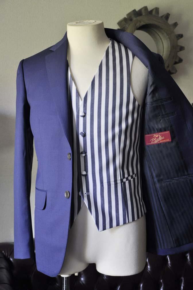 DSC0862-2 お客様のウエディング衣装の紹介-Biellesi ネイビースーツ ストライプベスト-