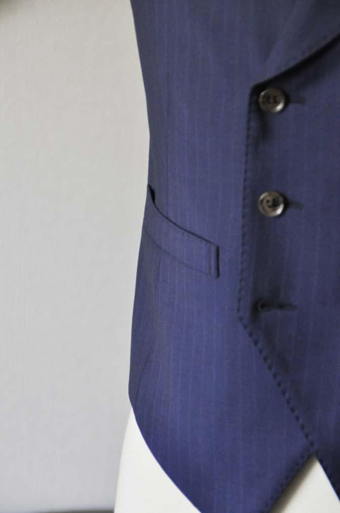 DSC0866-1 お客様のスーツの紹介- Biellesi ネイビーストライプ スリーピース- 名古屋の完全予約制オーダースーツ専門店DEFFERT