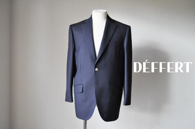 DSC08711 お客様のスーツの紹介-御幸毛織 ネイビーストライプスーツ-