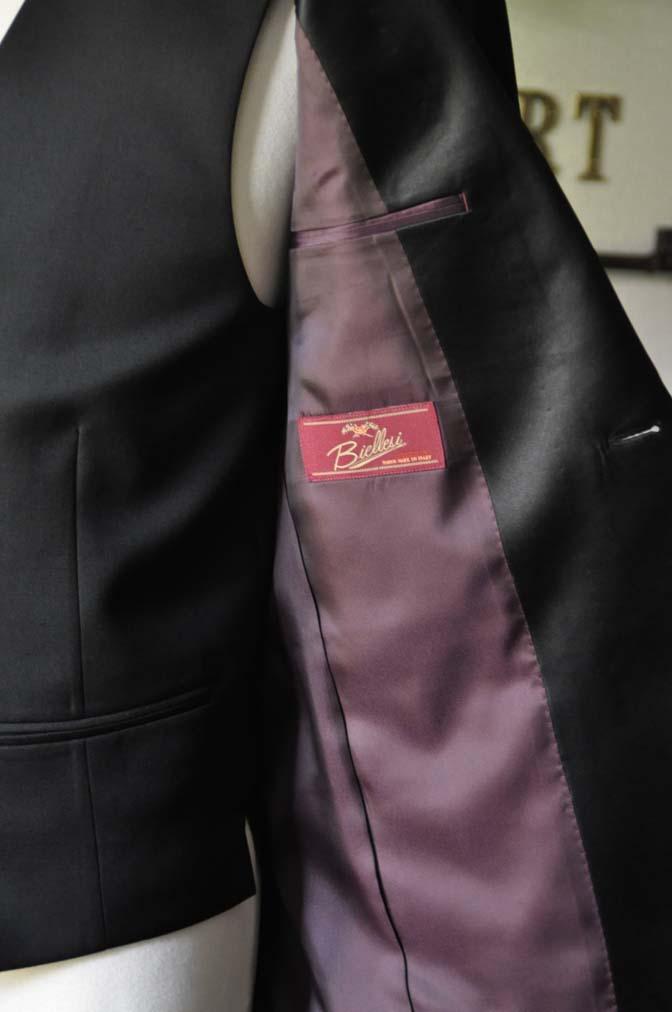 DSC0872-2 お客様のタキシードの紹介- Biellesiブラックショールカラータキシード-