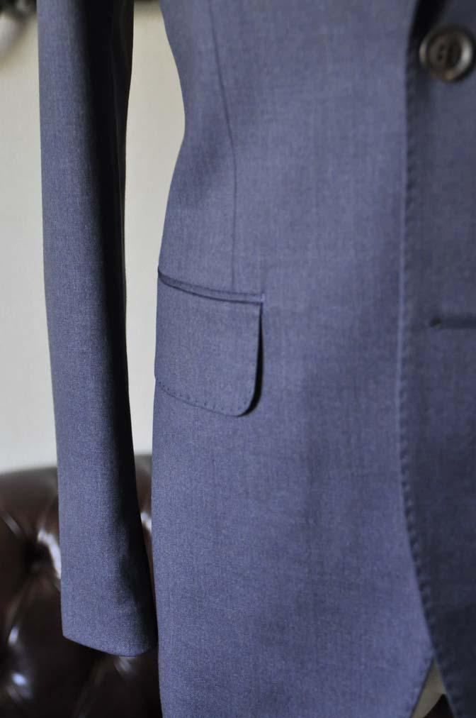 DSC0876-1 お客様のスーツの紹介- Biellesi 無地ネイビースリーピーススーツ-