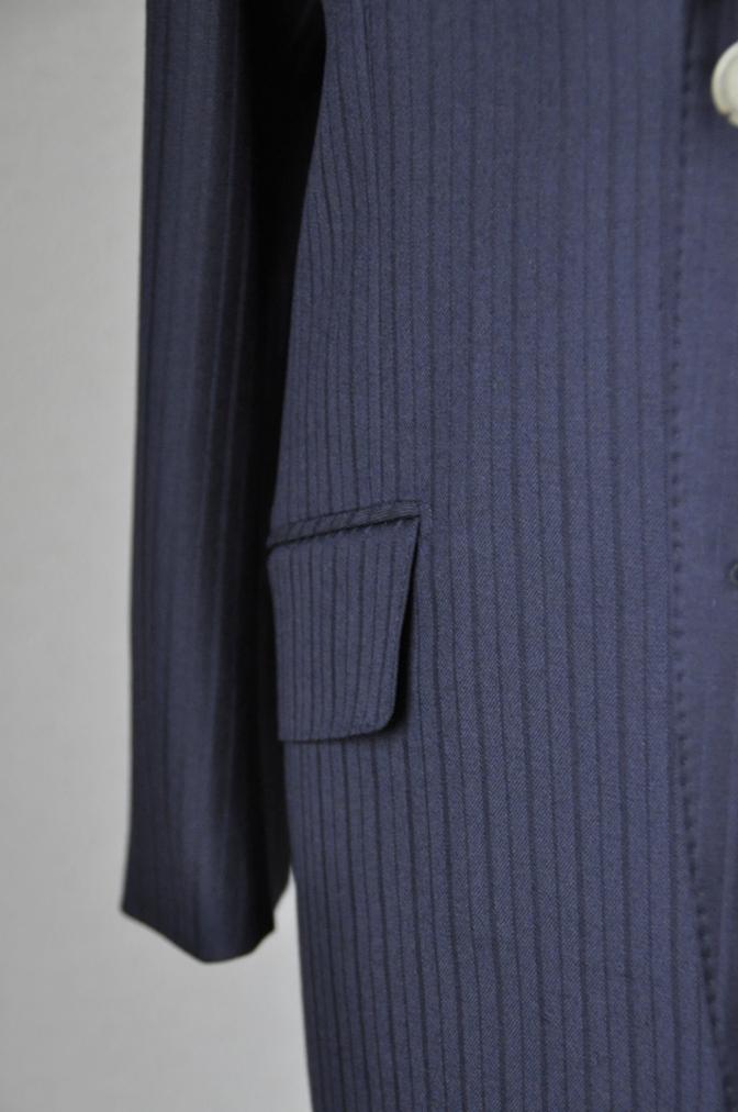 DSC08802 お客様のスーツの紹介-御幸毛織 ネイビーストライプスーツ-