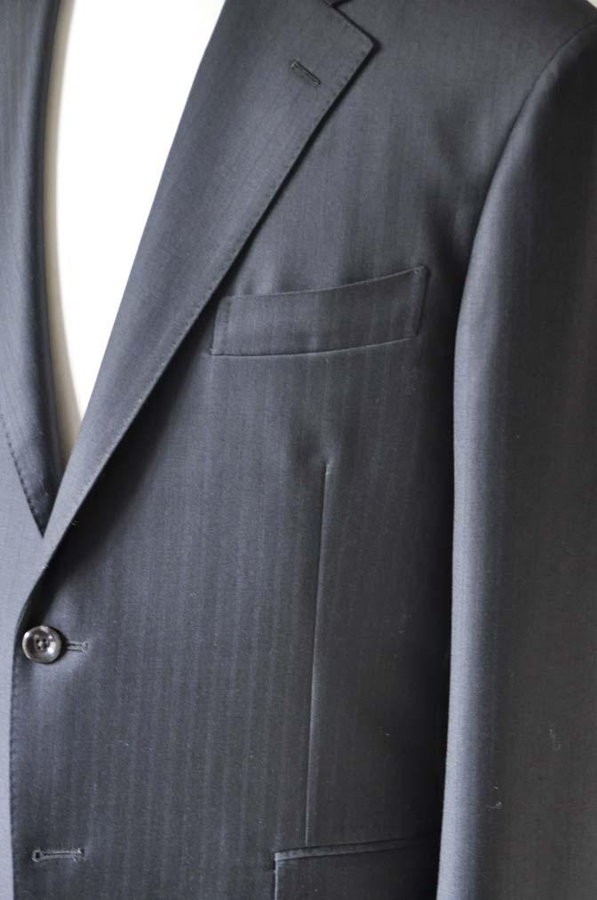 DSC0884-5 お客様のスーツの紹介-DUGDALEブラックストライプスーツ- 名古屋の完全予約制オーダースーツ専門店DEFFERT