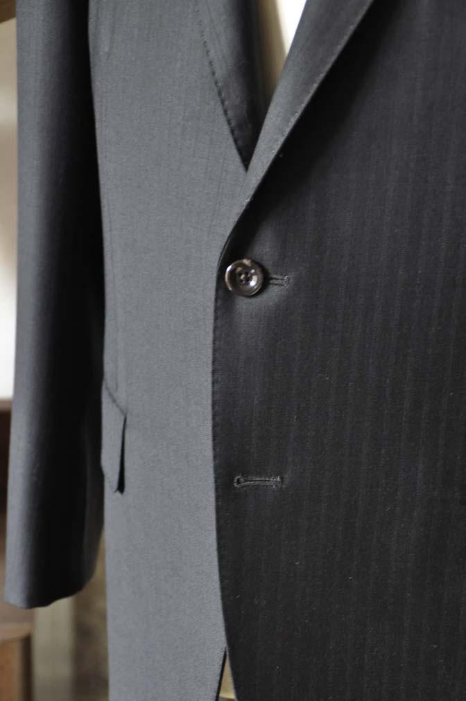 DSC0885-5 お客様のスーツの紹介-DUGDALEブラックストライプスーツ- 名古屋の完全予約制オーダースーツ専門店DEFFERT