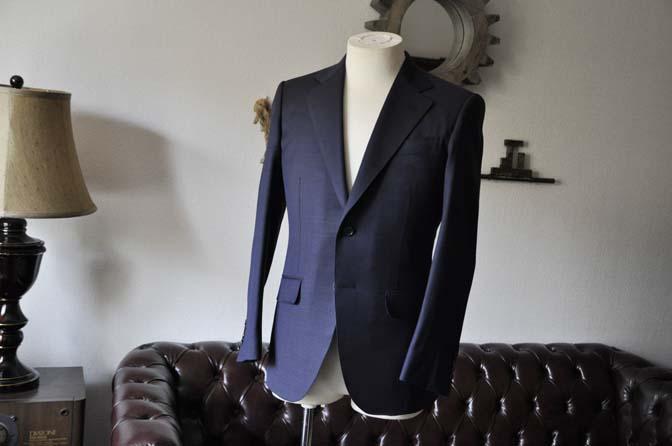 DSC0888-1 お客様のスーツの紹介- Biellesi ネイビーバーズアイ-