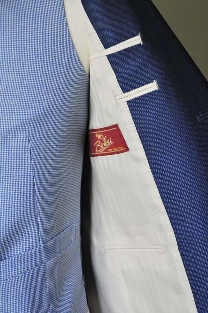 DSC0888-2 お客様のハワイウエディング衣装の紹介- ネイビージャケット、ブルー千鳥格子ベスト、ホワイトパンツ- 名古屋の完全予約制オーダースーツ専門店DEFFERT