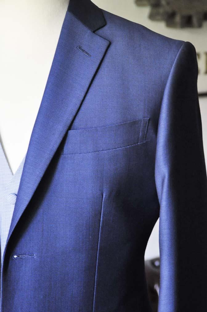 DSC0892-1 お客様のハワイウエディング衣装の紹介- ネイビージャケット、ブルー千鳥格子ベスト、ホワイトパンツ- 名古屋の完全予約制オーダースーツ専門店DEFFERT