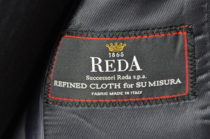 DSC08921 お客様のスーツの紹介-REDA ネイビーシャドーストライプ スリーピース-