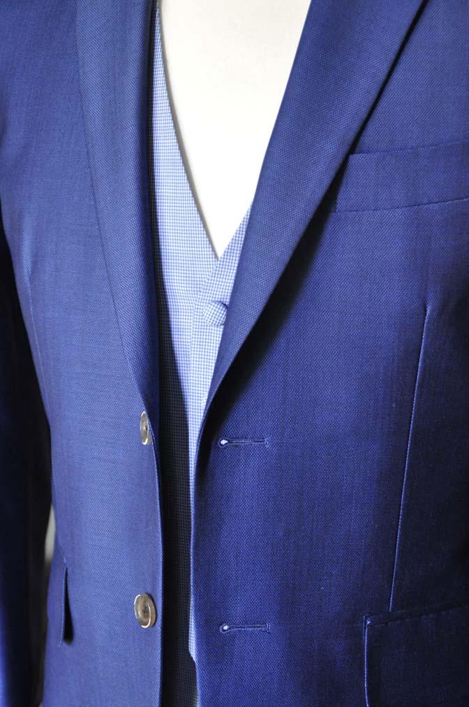 DSC0893-2 お客様のハワイウエディング衣装の紹介- ネイビージャケット、ブルー千鳥格子ベスト、ホワイトパンツ- 名古屋の完全予約制オーダースーツ専門店DEFFERT