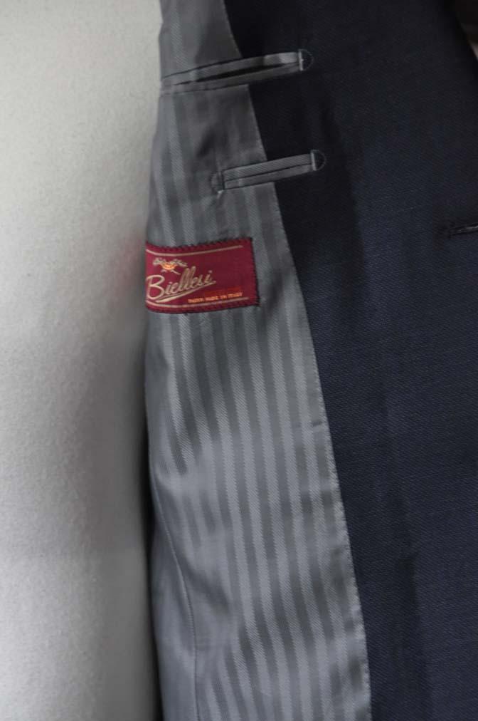 DSC0894-1 お客様のスーツの紹介- Biellesi ネイビーバーズアイ-
