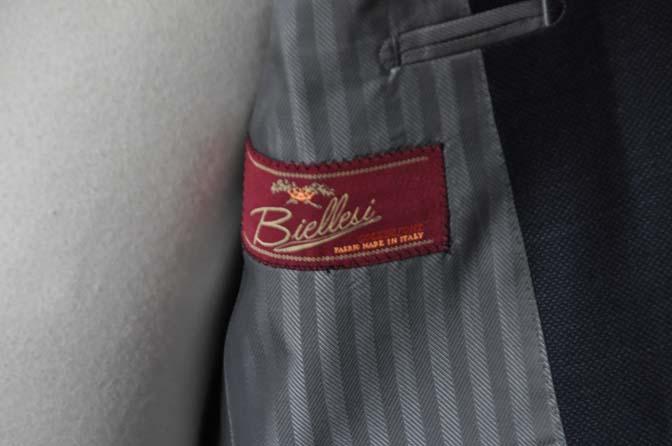DSC0895-1 お客様のスーツの紹介- Biellesi ネイビーバーズアイ-