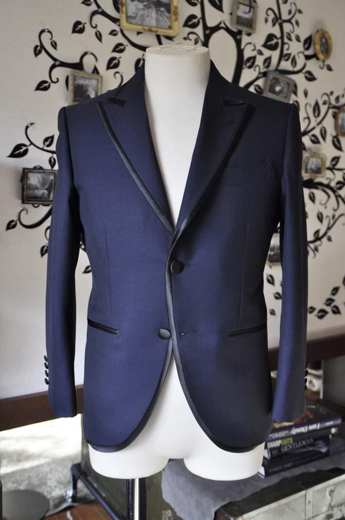 DSC0897-3 お客様のジャケットの紹介-DARROW DALEネイビーパイピングジャケット、ブラックウォッチパンツ-