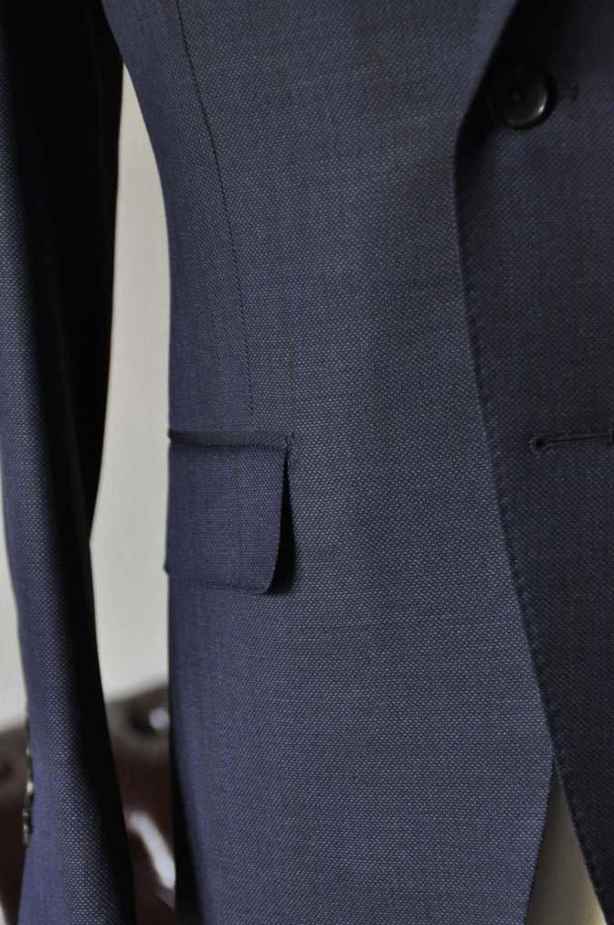 DSC0900-1 お客様のスーツの紹介- Biellesi ネイビーバーズアイ-