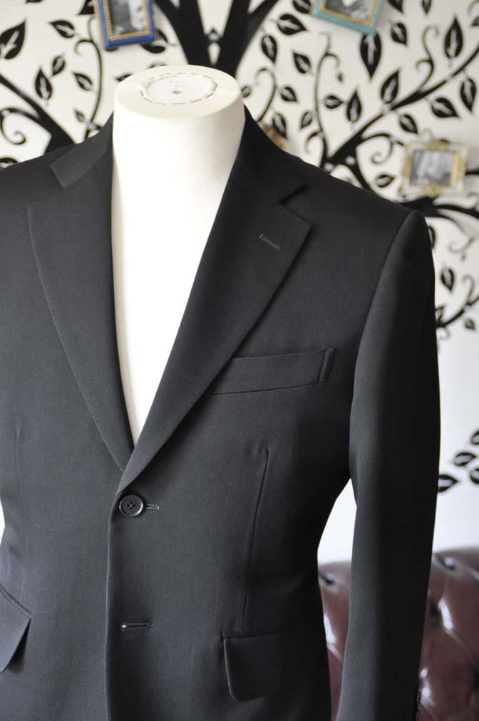 DSC0900-4 お客様のスーツの紹介-無地ブラックスーツ-