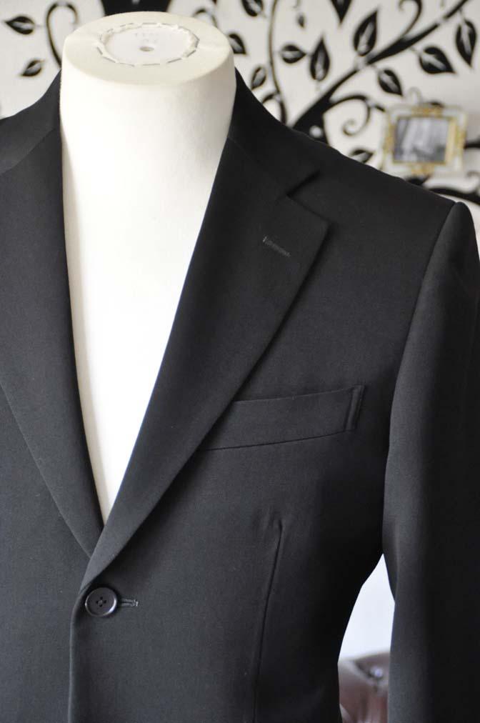 DSC0901-3 お客様のスーツの紹介-無地ブラックスーツ-