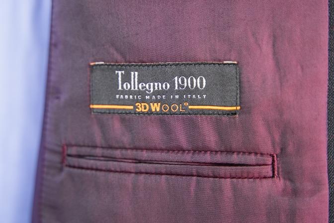 DSC09215 オーダースーツの紹介-Tollegnoブラウンチェックスーツ-