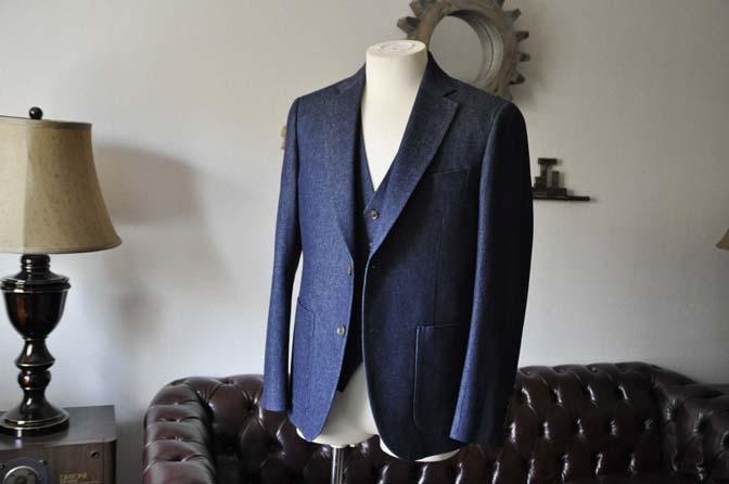 DSC0927-1 お客様のスーツの紹介- デニムスリーピース-