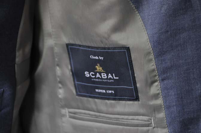 DSC0927-2 お客様のスーツの紹介-SCABAL GOLDEN RIBBON無地ネイビースリーピース-