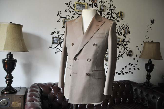 DSC0930-2 お客様のスーツの紹介-SCABAL GOLDEN RIBBONブラウンソラーロダブルスーツ-