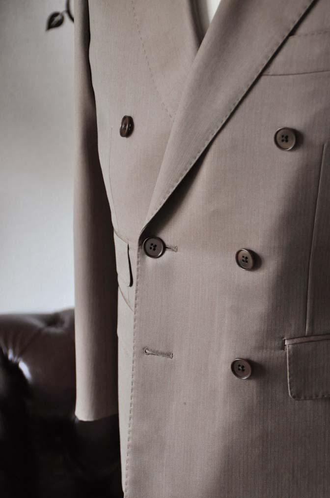 DSC0936-4 お客様のスーツの紹介-SCABAL GOLDEN RIBBONブラウンソラーロダブルスーツ-