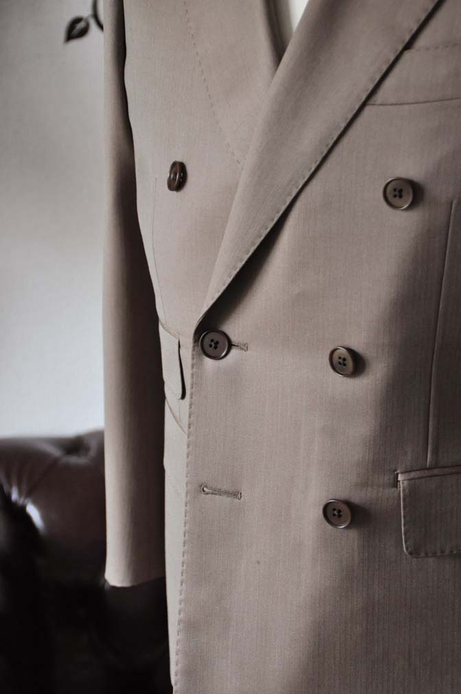 DSC0936-4 お客様のスーツの紹介-SCABAL GOLDEN RIBBONブラウンソラーロダブルスーツ- 名古屋の完全予約制オーダースーツ専門店DEFFERT